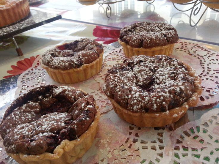 Rustic Chocolate Raspberry Tartlets