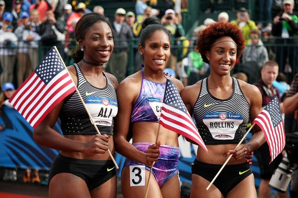 muslim female track stars 2016 | Nia Ali Photos - 2016 U.S. Olympic Track &…