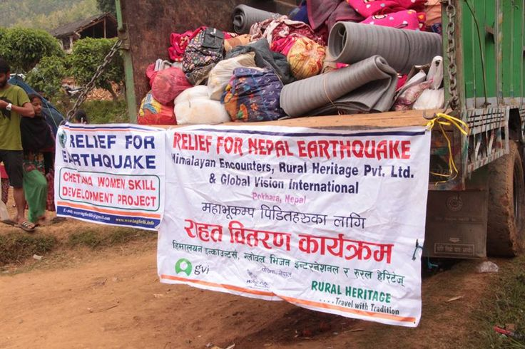 #NepalEarthquake  Relief Aid drop off in Chandeni VDC.