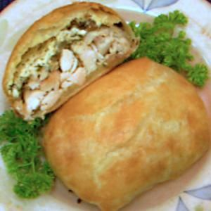 chicken recipe, wellington, easy, poultry, puff pastry, cream cheese, receipts - © 2012 Peggy Trowbridge Filippone, licensed to About.com, Inc.