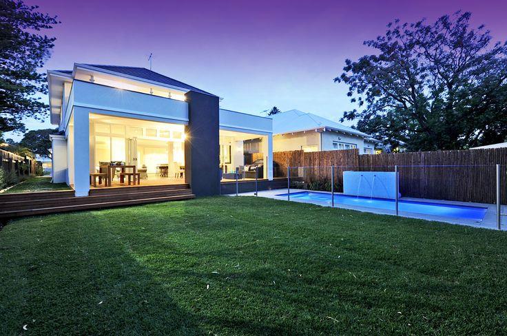 Hampton Style Homes backyard and pool, by the team at nhbb.com.au