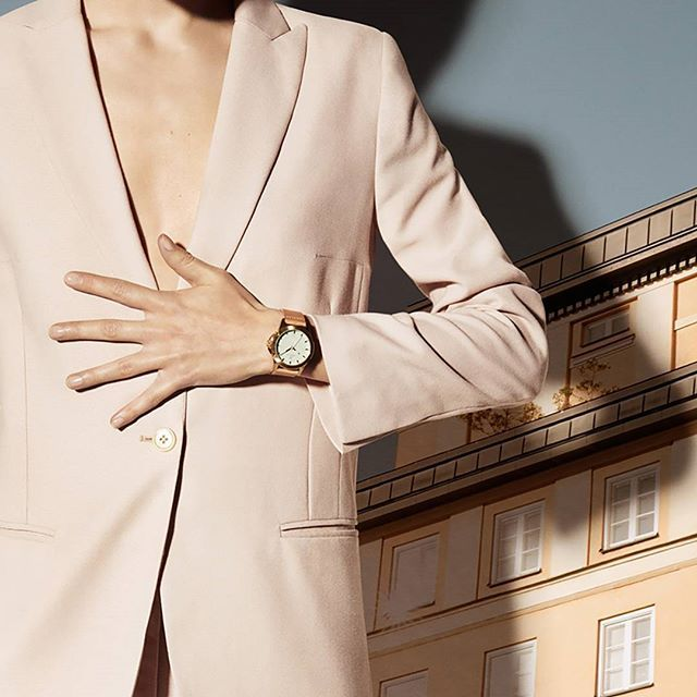 Modern sophistication. Our Mint Skala, a pistachio green dial surrounded by a gold plated case matched with a light Swedish organically tanned leather strap. Available at: https://www.triwa.com/en-se/watches/family/skala/mint-skala/ #triwa #mint #skala