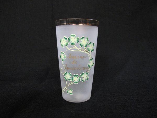 四葉のクローバー エナメルペイントグラス