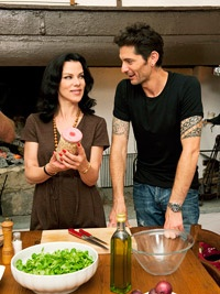 Entourage and Cooking Channel star Debi Mazar dished about life with husband Gabriele Corcos and daughters Evelyn and Giulia: http://www.familycircle.com/teen/parenting/celebrity-parents/debi-mazar/