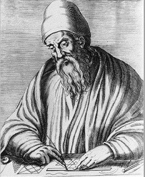 Euclid fl. 300 BC Euclid was a mathematician and the father of geometry. Very little is known of his life, but he was active at the Library of Alexandria. His main work is The Elements which is still used as a textbook in mathematics and may only be exceeded by the Bible in terms of copies sold. The book includes a system of mathematical proofs that remains the basis of mathematics today.