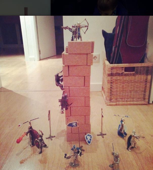 Solid Tower made from @hory_howoldryou cork Blocs! Seems the Dark Tower of Mordor...
