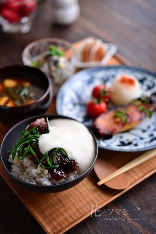 麦とろろ鉄火丼と銀ダラみりん定食