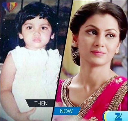 Check out this before and after photo of Pragya (Sriti Jha) when she was just a baby