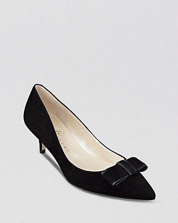 IVANKA TRUMP Pointed Toe Pumps - Walker Kitten Heel