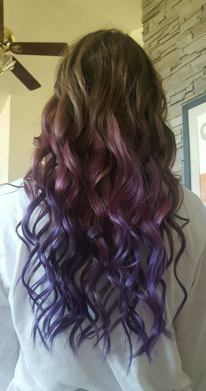 My pink to purple hair💕