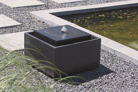 Vierkant waterelement in bak