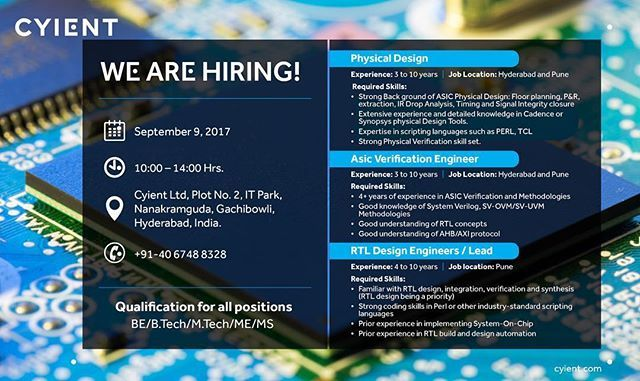 We Are Hiring Engineers In Semiconductor Domain We Will Hold