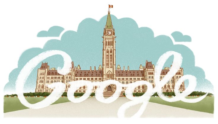 Canada Day 2013 [День Канады] /This doodle was shown: 01.07.2013 /Countries, in which doodle was shown: Canada