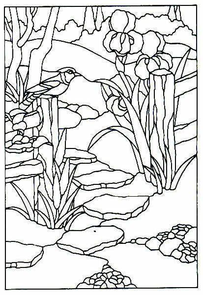 Resultado de imagen para imágenes de paisajes para pintar en vitral ...