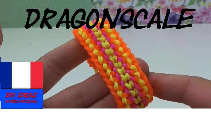 DIY Comment faire un bracelet en élastique.loom bands dragon scale sur…