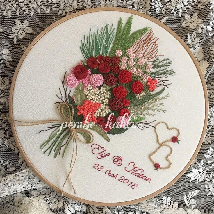 Kırmızı buket ❤️ #embroidery #hoopart #brezilyanakışı #nakış #nişantepsisi #tepsi #nişanhatirasi #nilanhazırlıkları #çeyiz #çeyizönerisi #etamin #kanaviçe