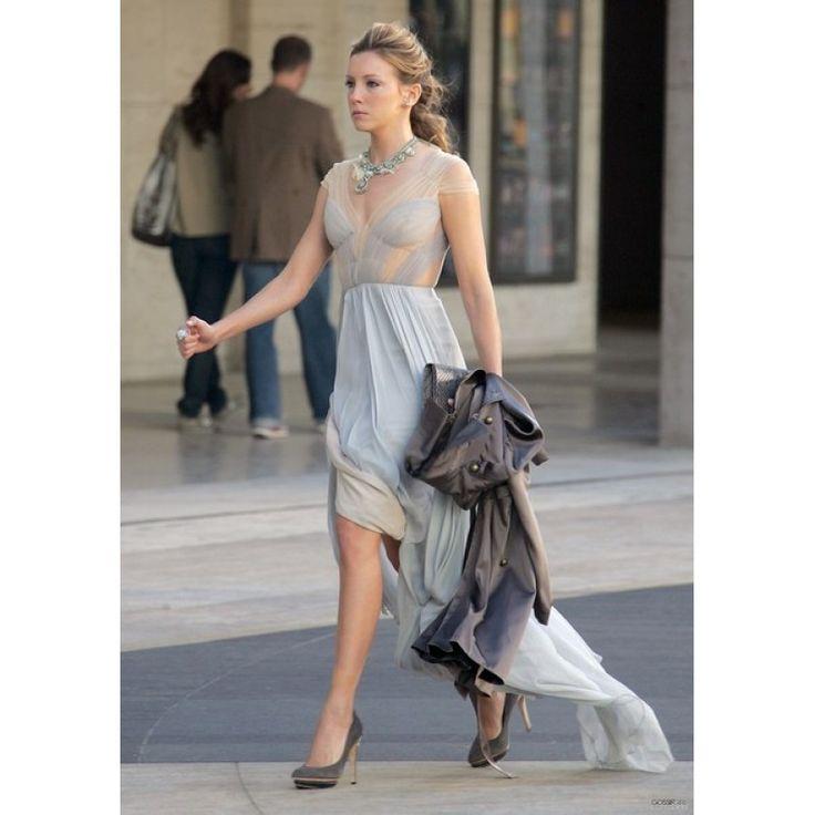 Juliet Sharp Chiffon Custom Prom Dress Gossip Girl Season 4