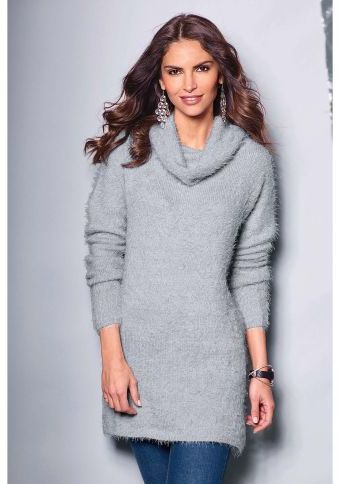Dlouhý pulovr s rolákovým límcem #ModinoCZ #autumn #fall #fashion #trendy #stylish #fallfashion #moda #podzimnimoda #trend