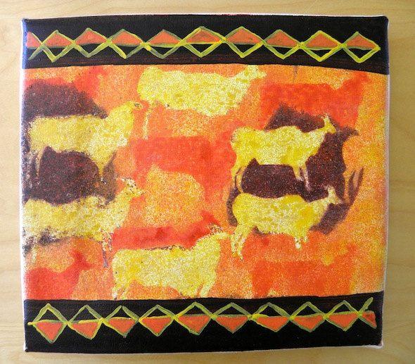 Antelope Migration San Art - Acrylic Painting Artwork by Hadeda on Etsy