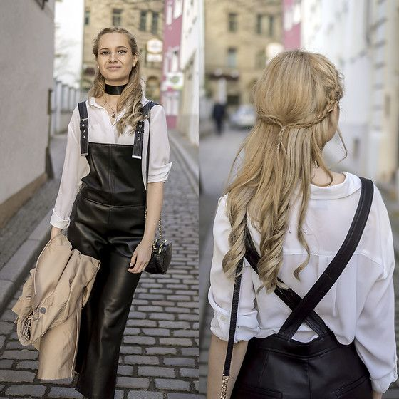 Get this look: http://lb.nu/look/8631211  More looks by Adriana M.: http://lb.nu/lilicons  Items in this look:  Mango Black Leather Dungarees, Ann Taylor Classic White Shirt   #casual #minimal #street #streetstyle #lookbook #lookbooker #today #outfit #blogger