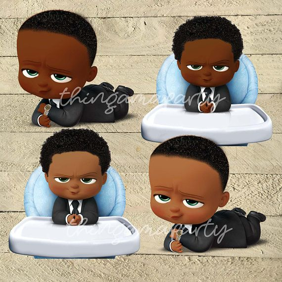 African American Boss Baby Boy Babies Of Color Set Afro