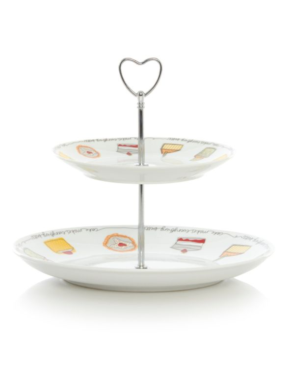 George Home Prince's Trust 2 Tier Cake Stand - £7