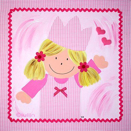 Schilderij Anne op www.julijn.nl/shop/kinderkamerkunst/meisjes/anne