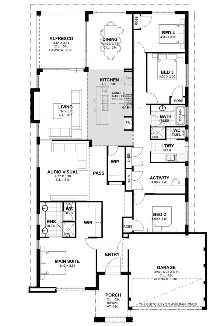 Aveling Homes Bletchley Park Series 2 Floor Plan