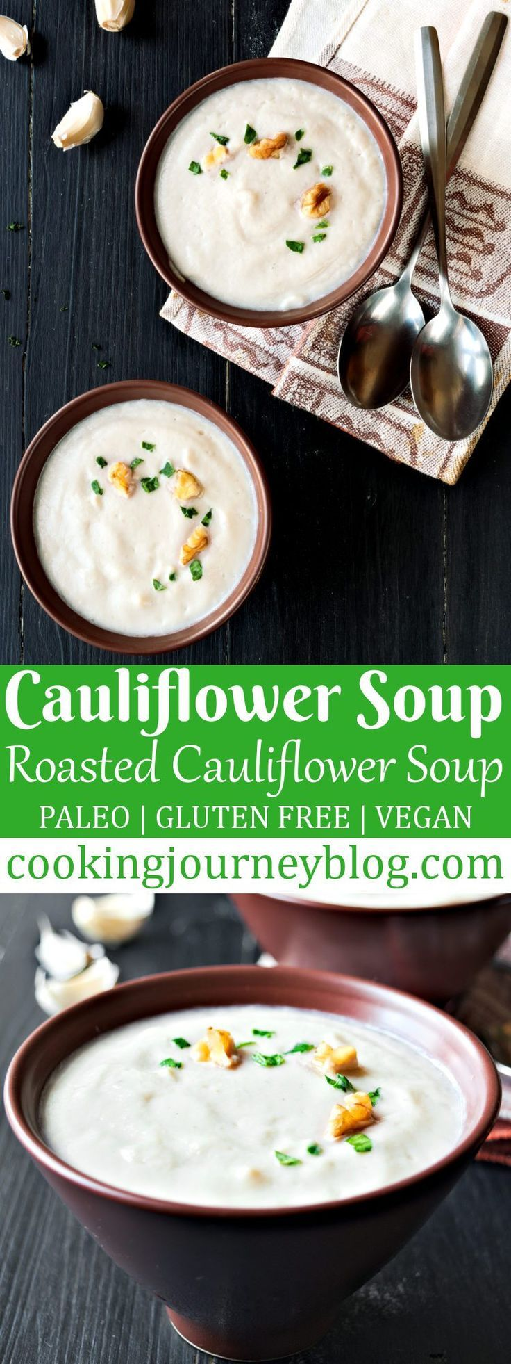 Cauliflower soup is smooth, silky, and absolutely tasty! This cauliflower soup recipe is healthy, gluten-free and vegan-friendly. So if you are looking into healthy cauliflower soup or mushroom soup combined together, they will deliver flavorful, creamy dish to serve for your family.