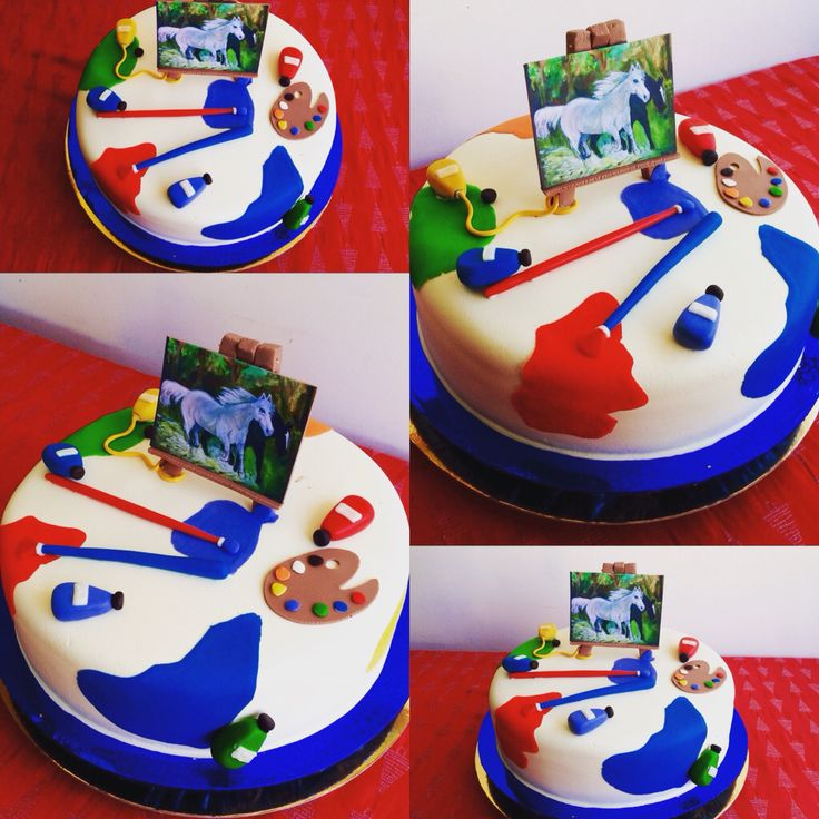 Torta Cumpleaños Pintor Tata-Sabores Tortas & Postres