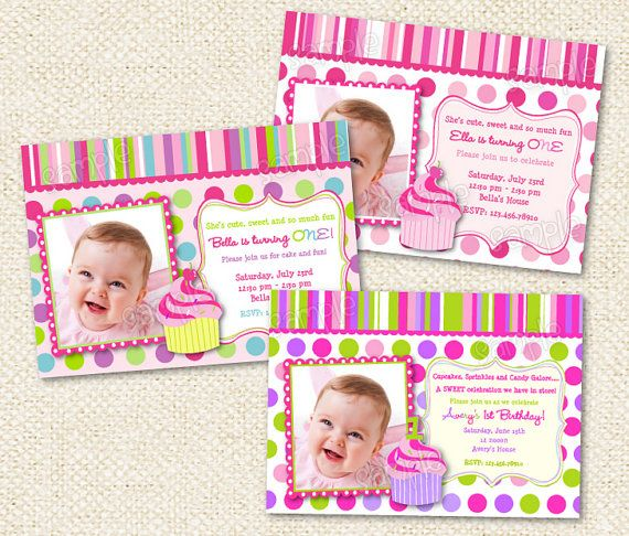 11 best 1st birthday invites images on Pinterest Birthdays - best of invitation for 1st birthday party free