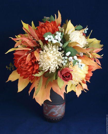 """Букеты ручной работы. Букет из фома """"Осень, рыжая подружка"""". Victoria Vika…"""