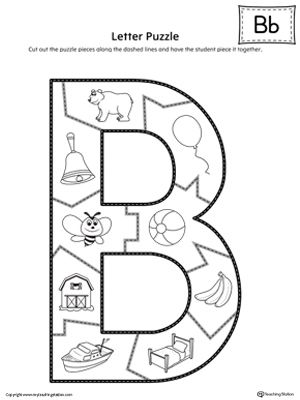 The Letter B Puzzle is perfect for helping students practice recognizing the shape of the letter B, and it's beginning sounds, along with developing fine-motor skills.