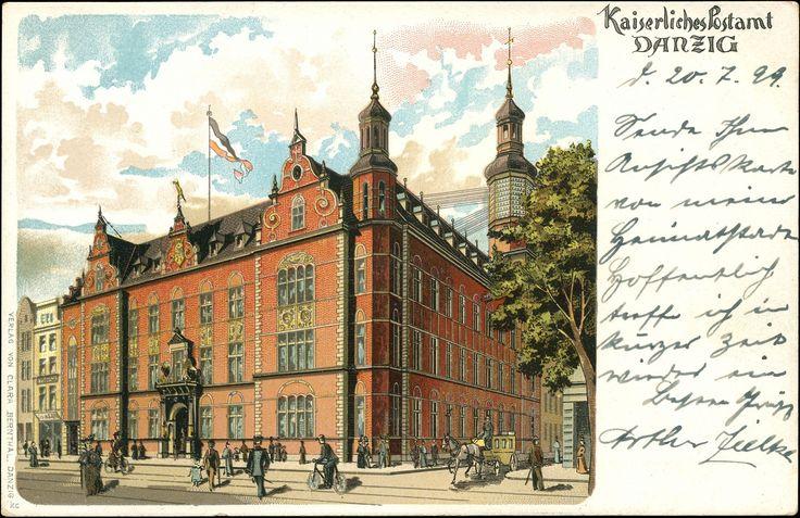 Poczta Polska Urząd Pocztowy Gdańsk 50, Gdańsk - 1899 rok, stare zdjęcia