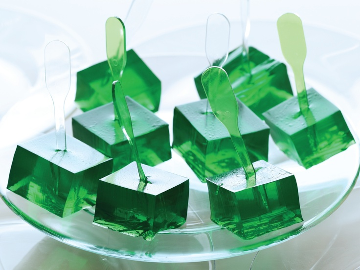 Margarita Jell-O Shots. Make some in pink and some in green. Sure the girls will like for bachelorette party.