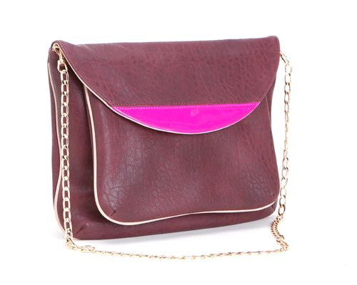 VIDA Leather Statement Clutch - purple whim by VIDA m4lnTVa4