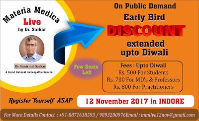 Materia Medica Live by Dr. Sarkar: Materia Medica Live by Dr. Sarkar in INDORE