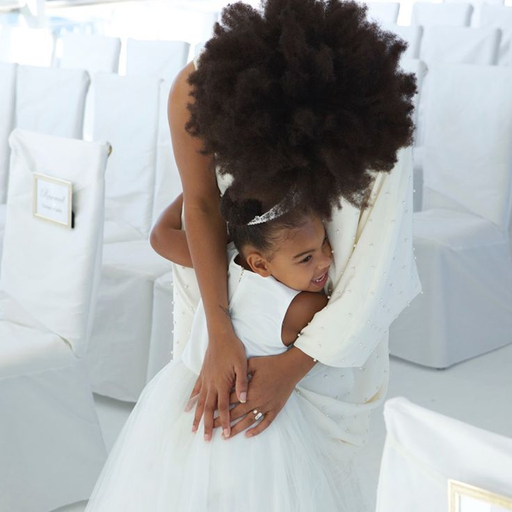Blue Ivy Carter & Solange Knowles at Tina Knowles & Richard Lawson wedding, 2015