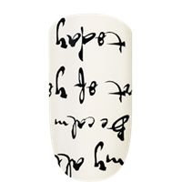 love to love you by essie - inky romantic calligraphy.