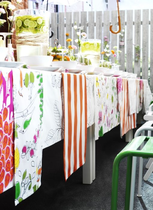Colourful Metered Fabrics And Textiles Can Help Make Any Summer Setting  Fantastic And Eye Catching · Whimsical WeddingOutdoor DecorIkea ...