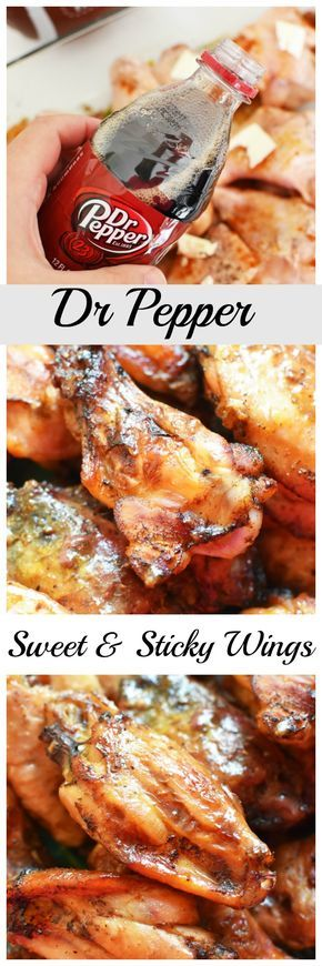 Sweet & Sticky Dr Pepper Wings Recipe. A sweet & savory sticky wing recipe made with Dr Pepper that is so scrumptious and delicious! via @savvysavingcoup #AD