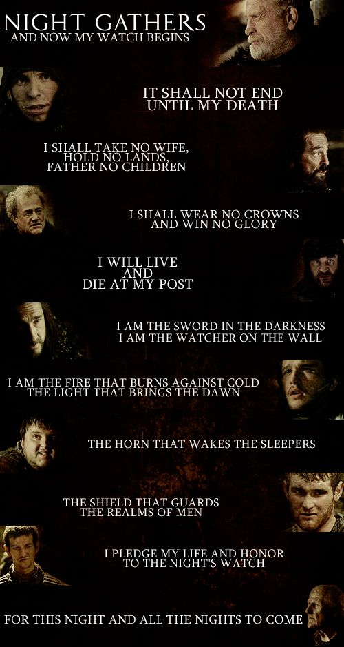 We are the Watchers on the wall ~ Game of Thrones Fan Art