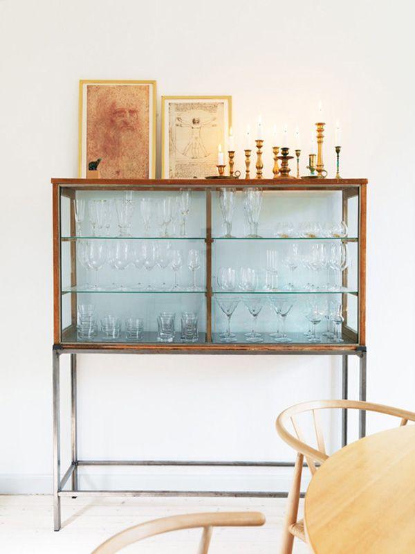 glassware display