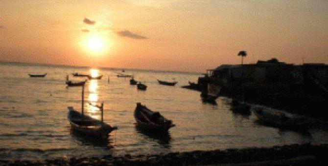 Beach Kenjeran of indonesia