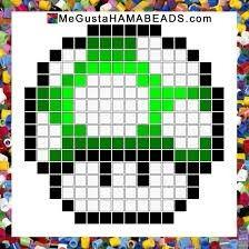 Seta Mario bross hama beads plantilla