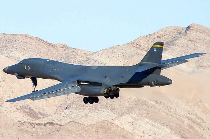 A USAF Rockwell B-1B Lancer.