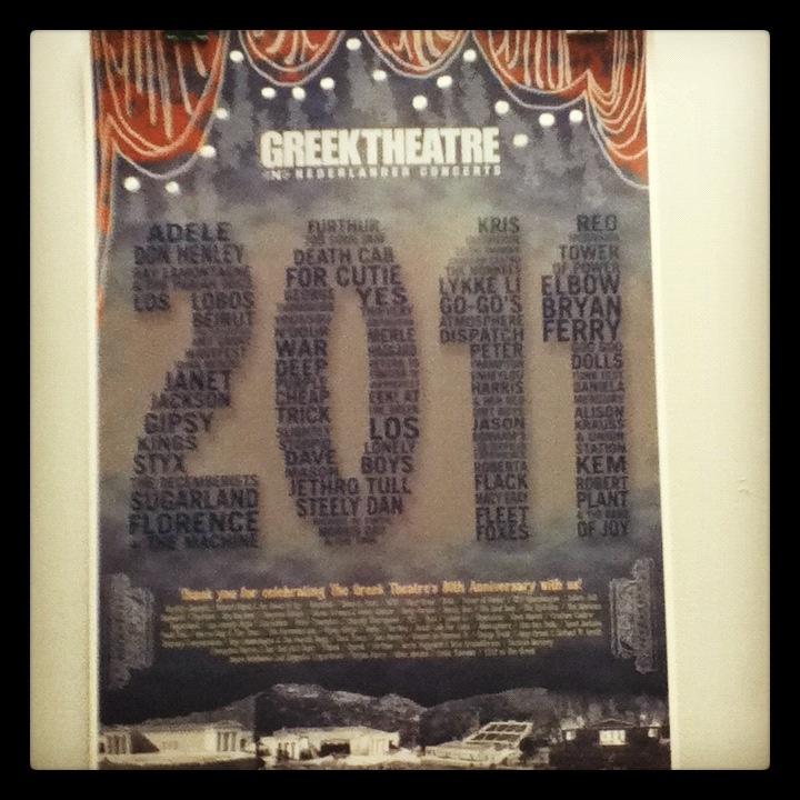 Celebrating our 2011 season poster!