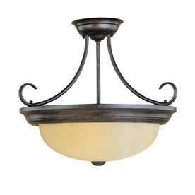 lighting 17 in w burnished gold semi flush mount ceiling light over