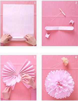 DIY Paper Pom Poms