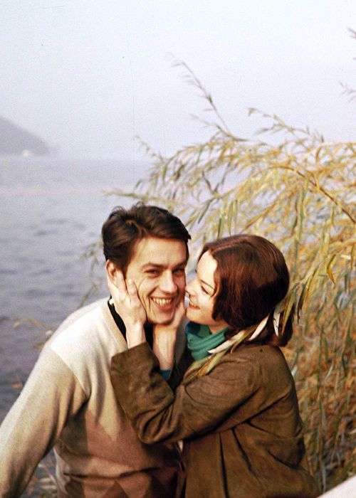 Alain Delon and Romy Schneider.